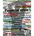 financial crisis shadow vector image vector image
