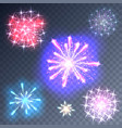 fireworks on a transparent background vector image