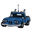 Funny old blue pick-up vector image vector image