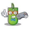 gamer price tag mascot cartoon vector image vector image