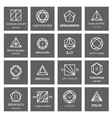 geometric shapes logo vector image vector image
