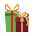 gift boxes surprise on white background vector image vector image