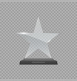 glass star award vector image vector image