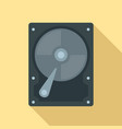 hard disk icon flat style vector image vector image