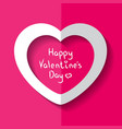 heart for valentine s day vector image vector image