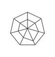 hexagon graph icon vector image