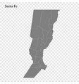 high quality map is a province argentina vector image vector image