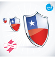 I Love Chile Flag vector image