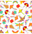 kid cartoon kites seamless pattern vector image vector image