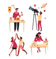 leisure activity and hobbies craft and art or vector image