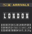 london airport time table for departures and vector image vector image