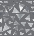 monochrome grunge triangle pattern vector image vector image
