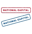 National Capital Rubber Stamps vector image vector image