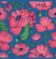 natural seamless pattern with beautiful blooming vector image