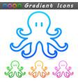 octopus symbol icon design vector image vector image