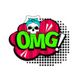 omg cartoon patch vector image vector image