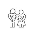 parents and baby line outline icon vector image