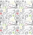 pattern sewing accessory Doodle vector image vector image