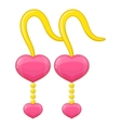 Pink earrings icon cartoon style vector image vector image