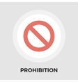 Prohibition icon flat vector image vector image