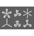 Propeller icons vector image vector image