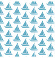 sailing boat pattern background vector image