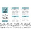seafood design fish menu vector image