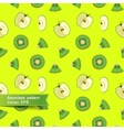 Seamless pattern with slices of fruit and vector image vector image