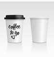 set of realistic blank mock up paper cups vector image