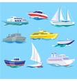 Set of Sea Ships Water Carriage and Maritime vector image vector image
