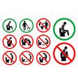 set toilet hygiene sign vector image vector image