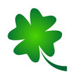 shamrock - green gradient four leaf clover icon vector image