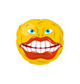 smiling emoticon crazy emoji happy is an emotion vector image vector image