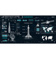 space launch rockets instrument panel radars vector image vector image