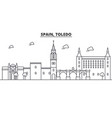 spain toledo architecture line skyline vector image vector image