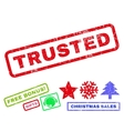 Trusted Rubber Stamp vector image vector image
