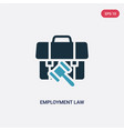 two color employment law icon from law vector image vector image