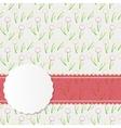 Vintage Frame with Pink Ribbon vector image
