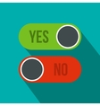 Yes and No button icon flat style vector image vector image