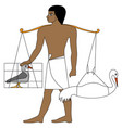 ancient egypt farmer vector image vector image