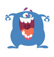 angry funny cartoon monster character vector image vector image