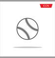 baseballs icon outline baseballs icon vector image