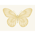 beautiful butterfly in pastel colors vector image