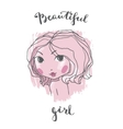 Beautiful girl portrait vector image vector image