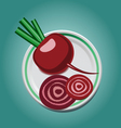 beet on a plate with slices vector image
