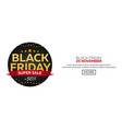 black friday sale black friday banner shopping vector image