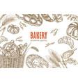 bread design template bakery set vector image vector image