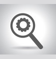 business analysis symbol with magnifying glass vector image vector image