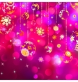 Card with christmas balls EPS 8 vector image