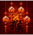 Chinese New Year lantern with hieroglyph monkey vector image vector image
